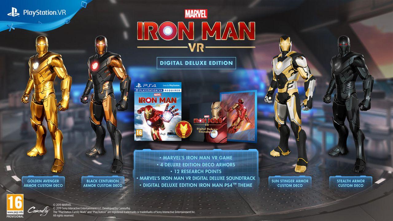 Marvel's Iron Man VR: presentate Standard Edition e Digital Deluxe Edition