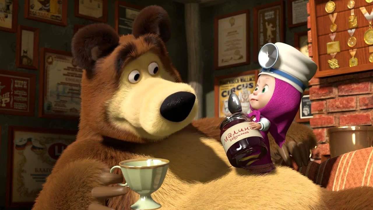 Masha e orso il poster trailer italiano