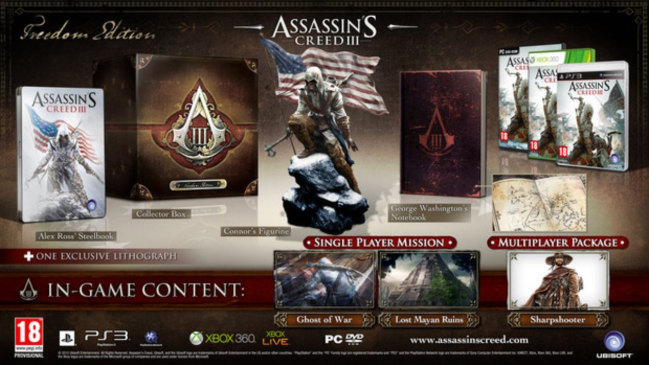 McFarlane Toys al lavoro sulle action figures di Assassin's Creed III