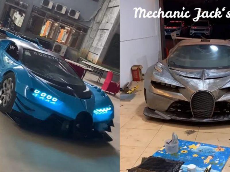 Meccanico riproduce in modo incredibile una Bugatti Vision Gran Turismo