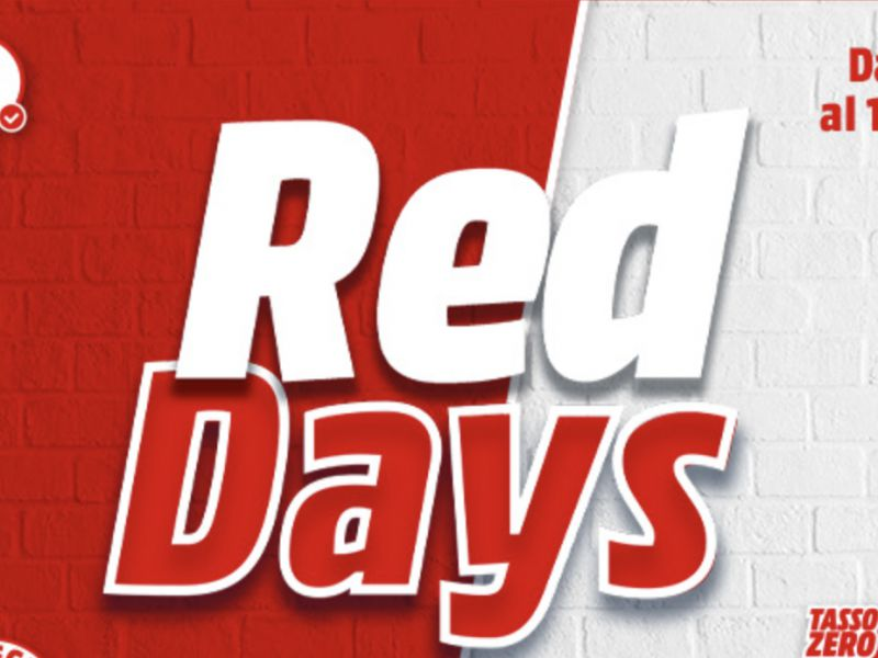 Mediaworld, partono i Red Days: sconti su iPhone, MacBook, TV e soundbar