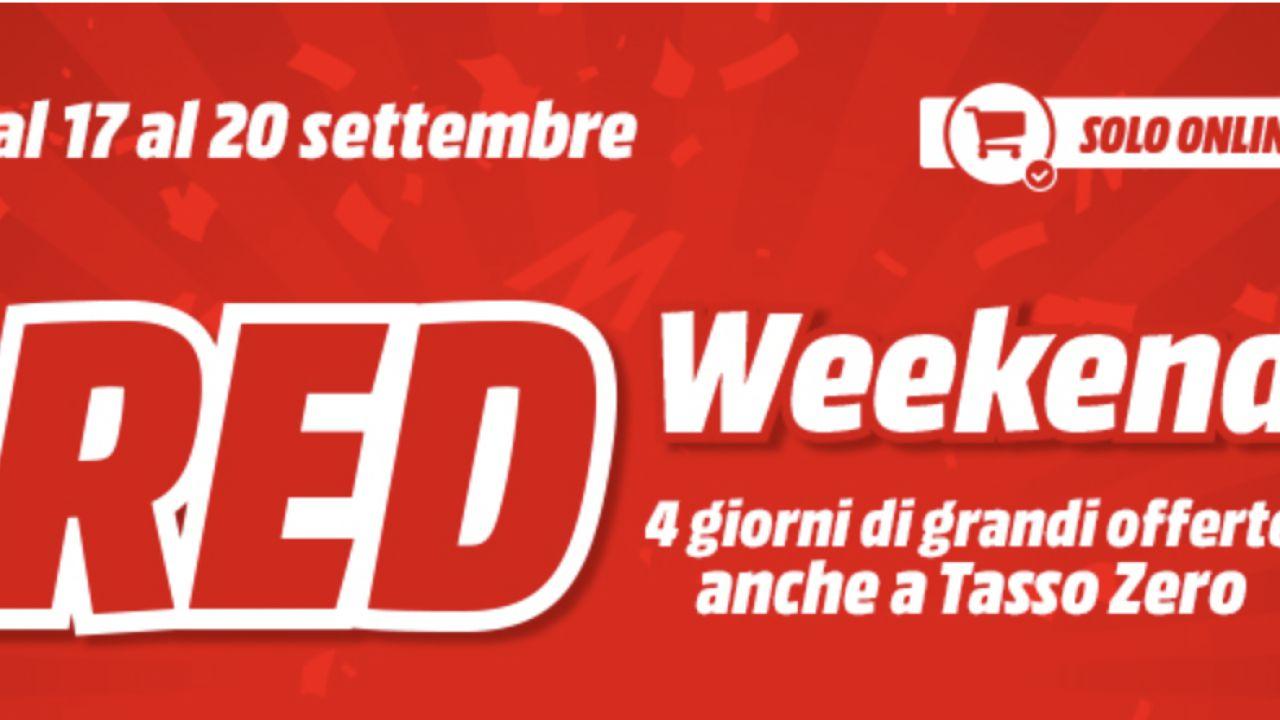 Mediaworld dà il via al Red Weekend: 4 giorni di grandi offerte fino al 20 Settembre