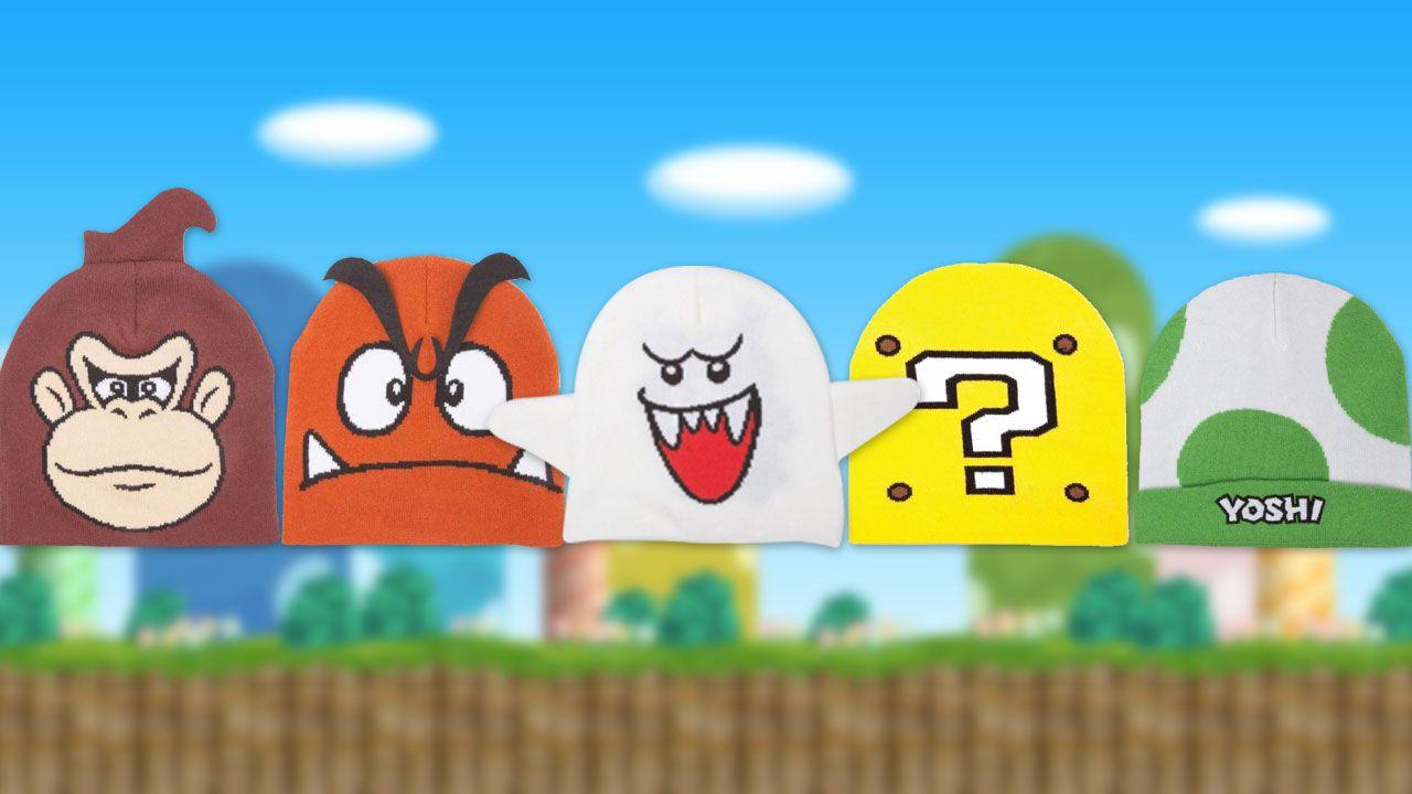 Merchoid presenta una linea di copricapi dedicata ai personaggi Nintendo