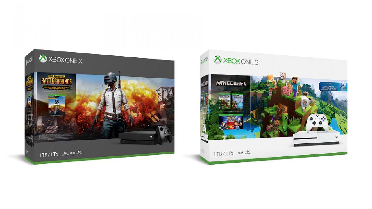 Microsoft annuncia due nuovi bundle Xbox con PUBG e Minecraft
