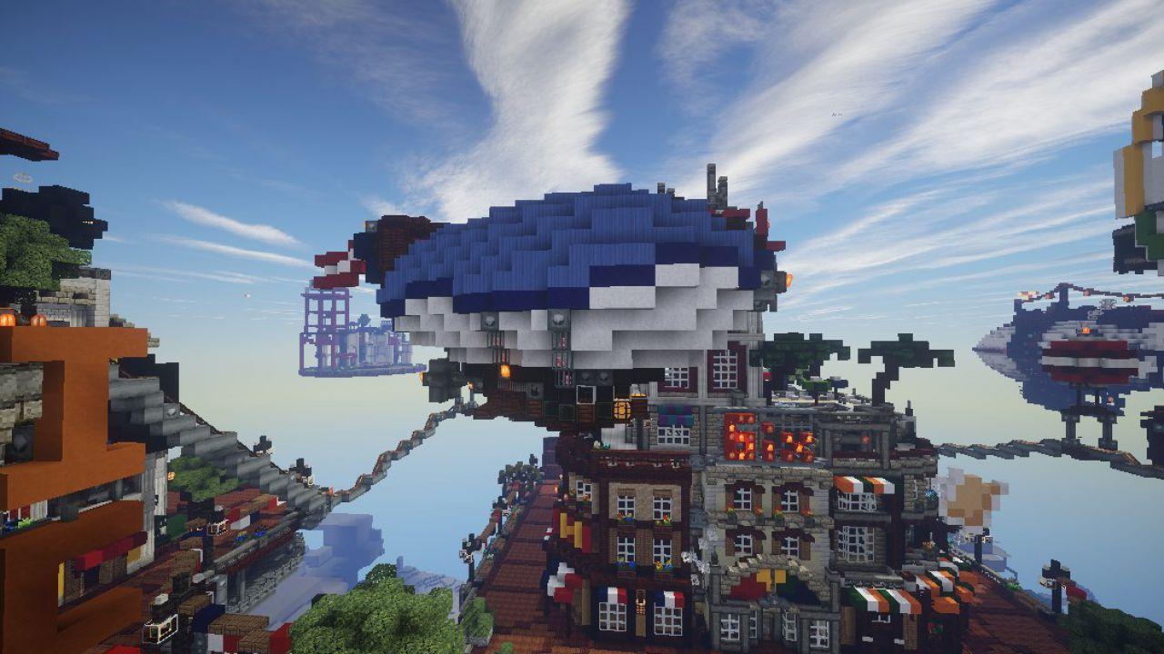 Minecraft: utenti ricreano Columbia di BioShock Infinite