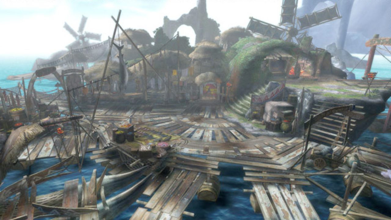 Monster Hunter 3, le lance in azione