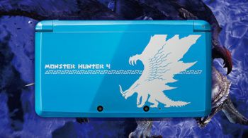 Monster Hunter 4: Nintendo 3DS XL Rajang Gold Edition per il Giappone