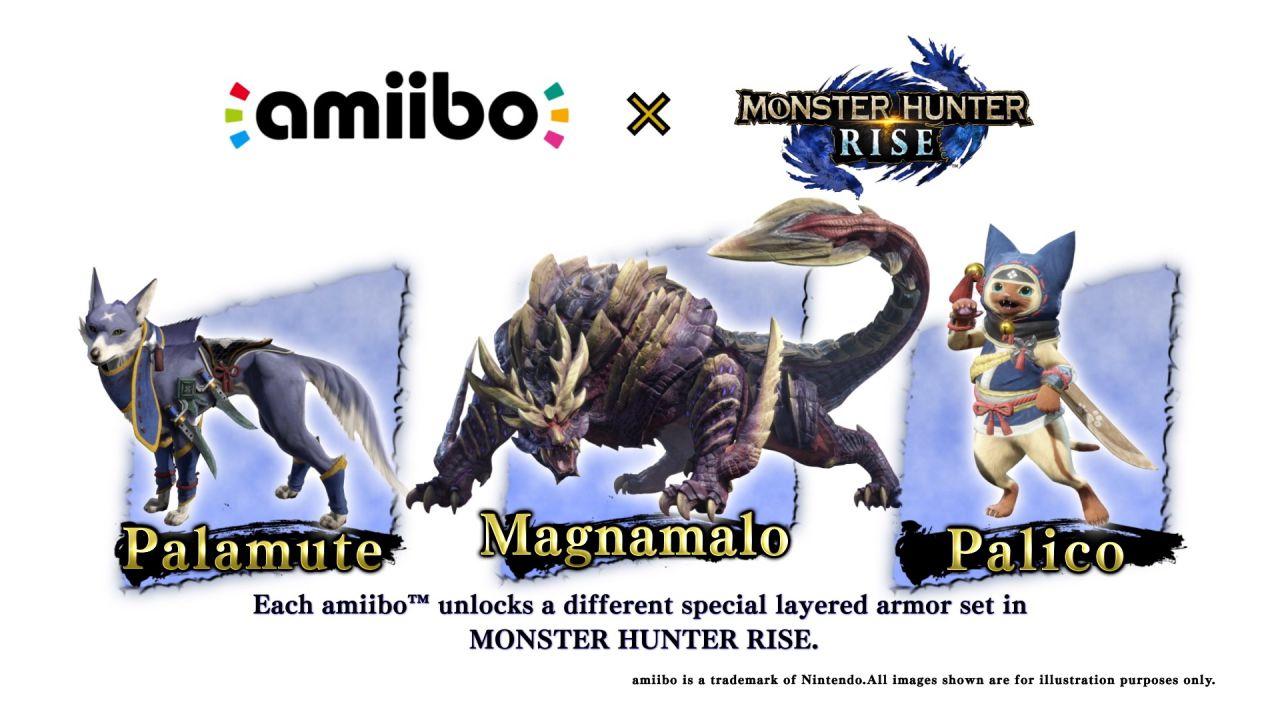 Monster Hunter Rise, arrivano gli Amiibo: prime immagini e dove trovarli