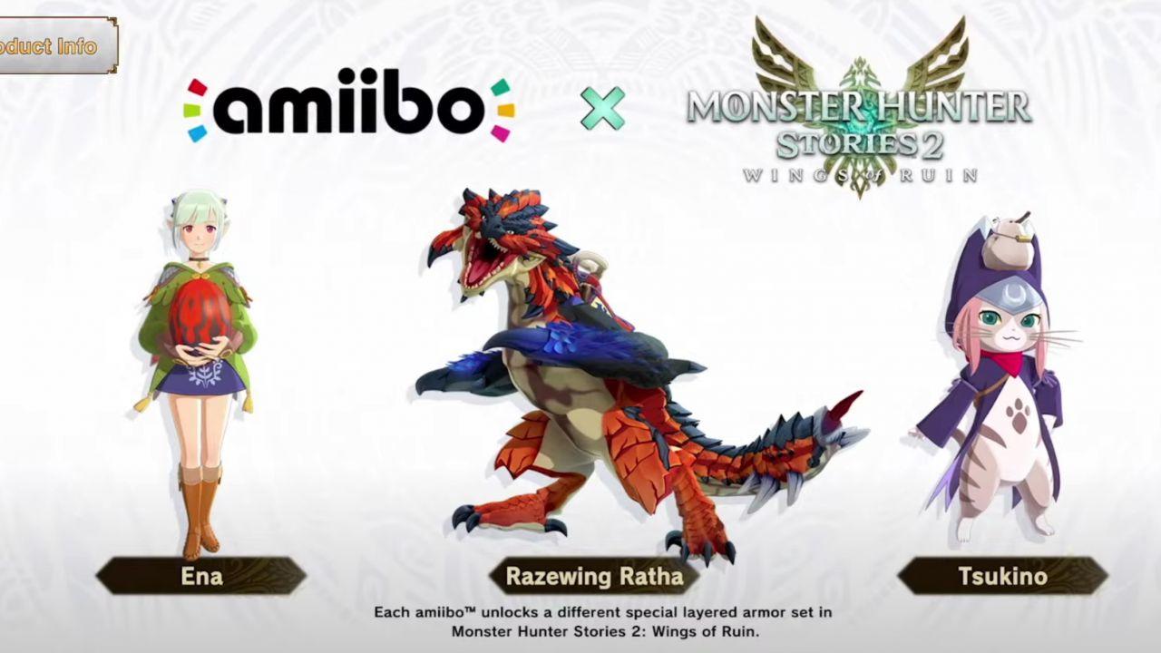 Monster Hunter Stories 2: tre nuovi Amiibo annunciati da Capcom