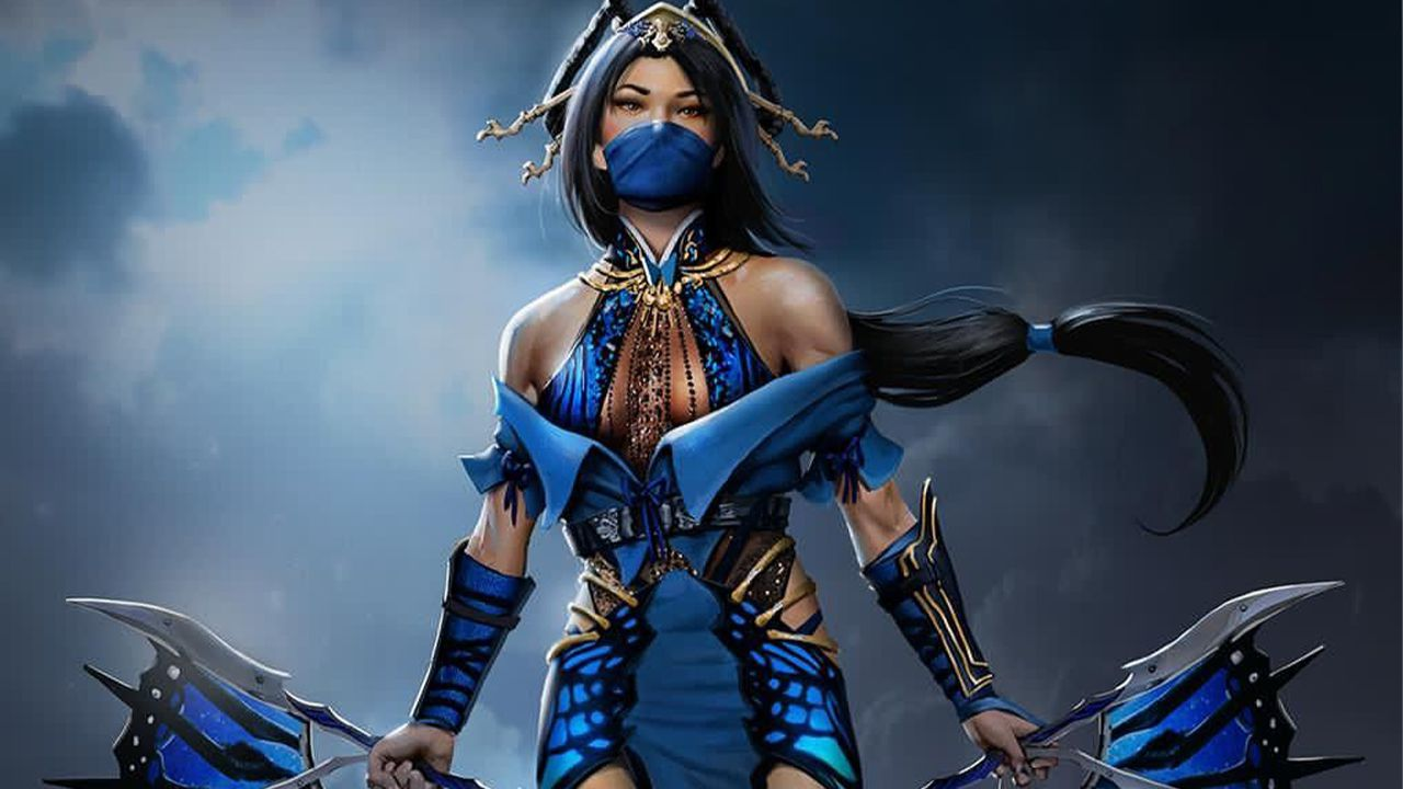 Mortal Kombat: la principessa Kitana in un cosplay si prepara a combattere