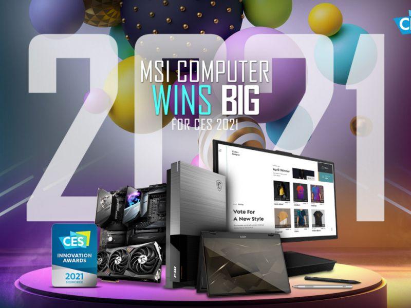 MSI al CES 2021, svelata la lineup: ci sono anche monitor, portatili e PC