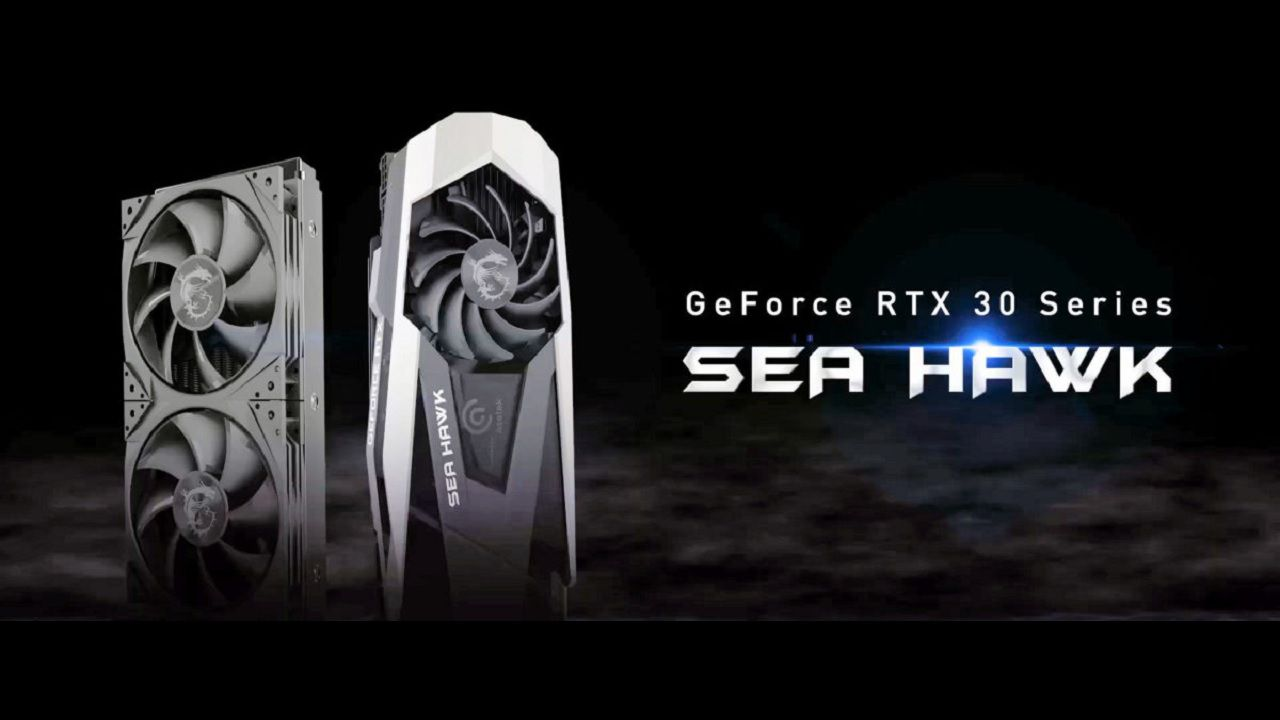 MSI GeForce RTX 30 Sea Hawk, ufficiale al CES 2021 la serie di GPU