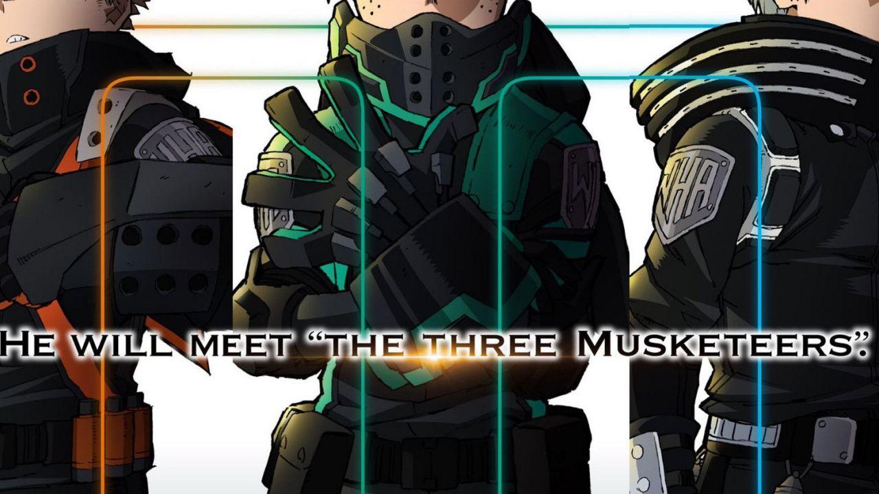 My Hero Academia: i doppiatori dei Tre Moschettieri commentano l'annuncio del terzo film