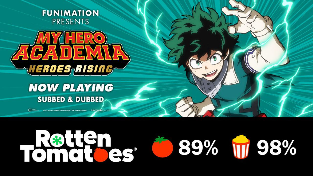 My Hero Academia: Heroes Rising è stato certificato 'fresh' su Rotten Tomatoes