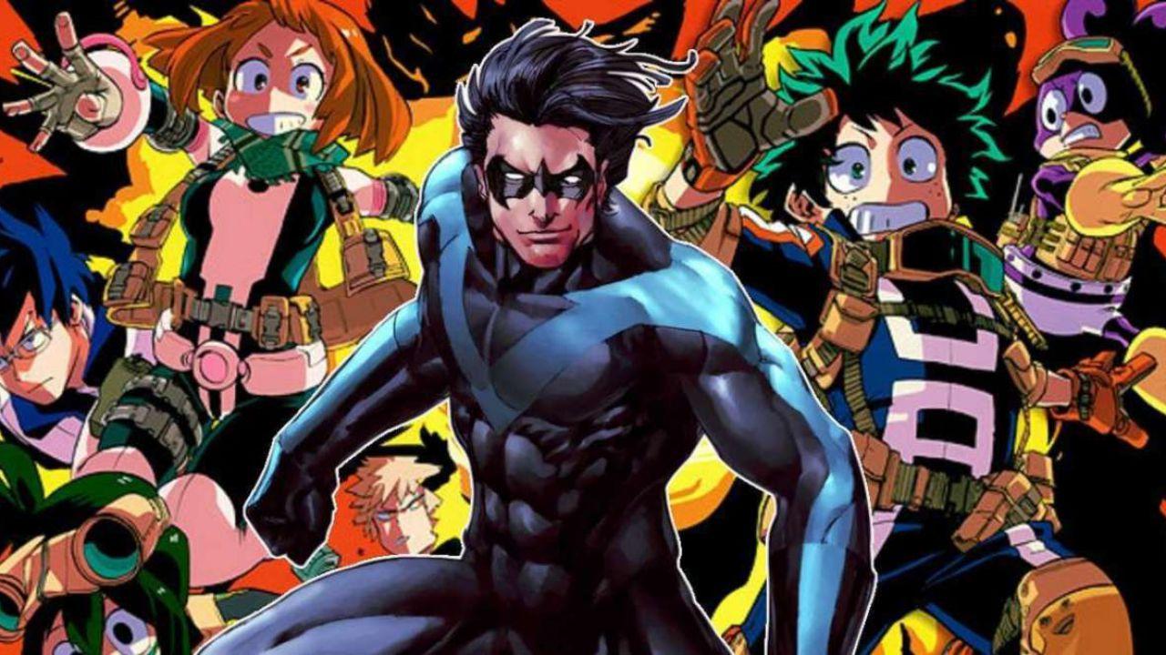 My Hero Academia incontra DC: Nightwing diventa un Hero dello Yuei grazie a una fanart