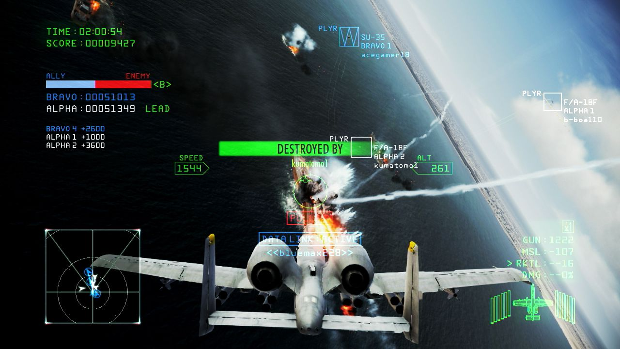 Namco torna a solcare i cieli con Ace Combat Infinity