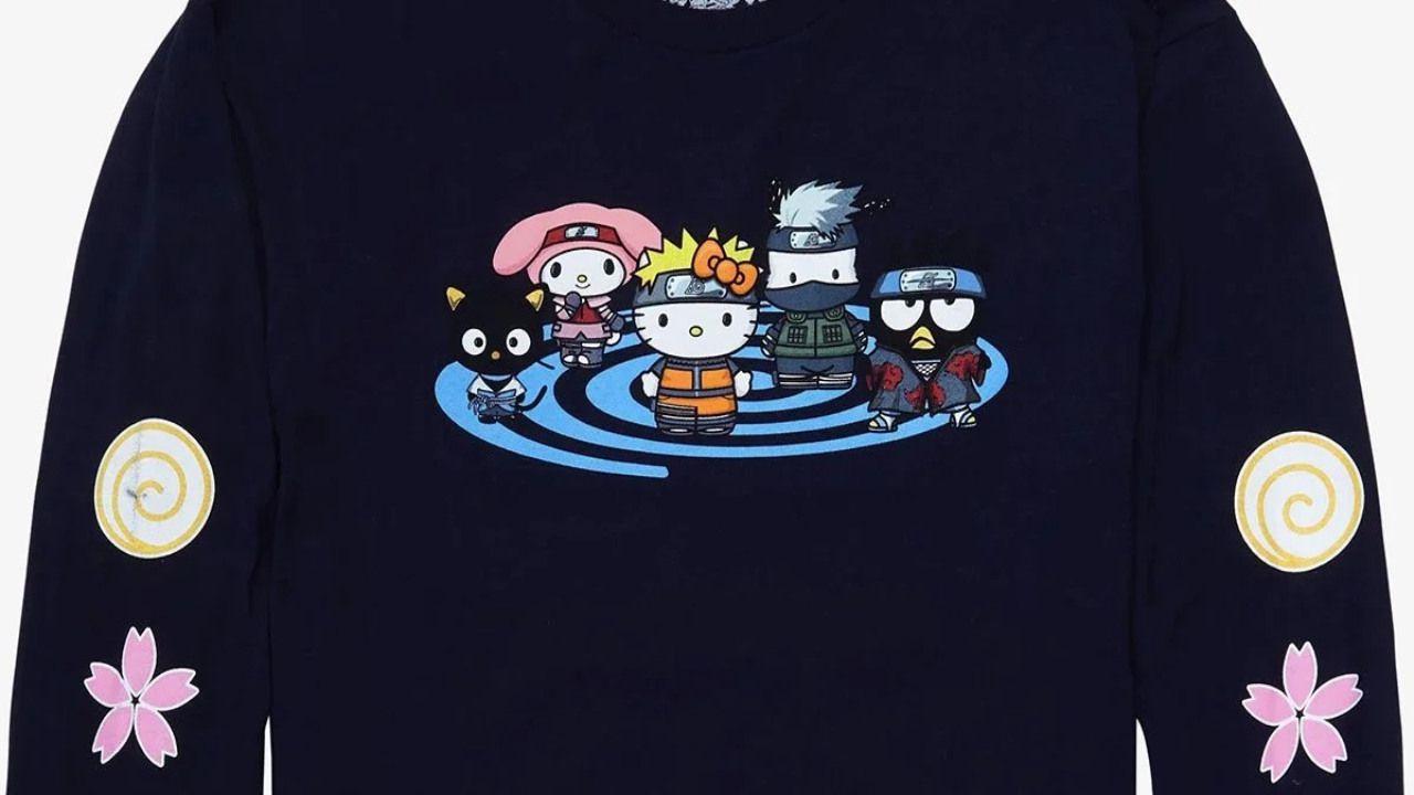 Naruto: Shippuden e Hello Kitty, un'inaspettato crossover dà vita a una linea di vestiti