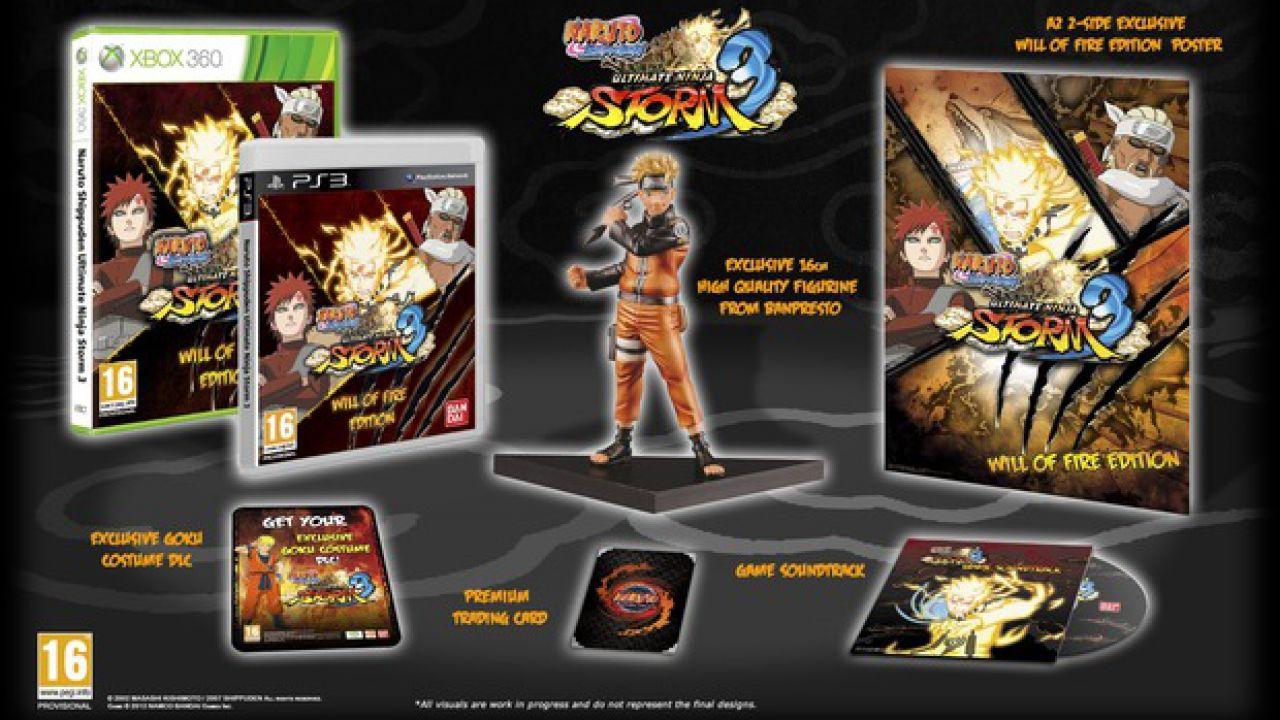 Naruto Shippuden: Ultimate Ninja Storm 3: un costume di Goku di Dragon Ball Z con le prime copie