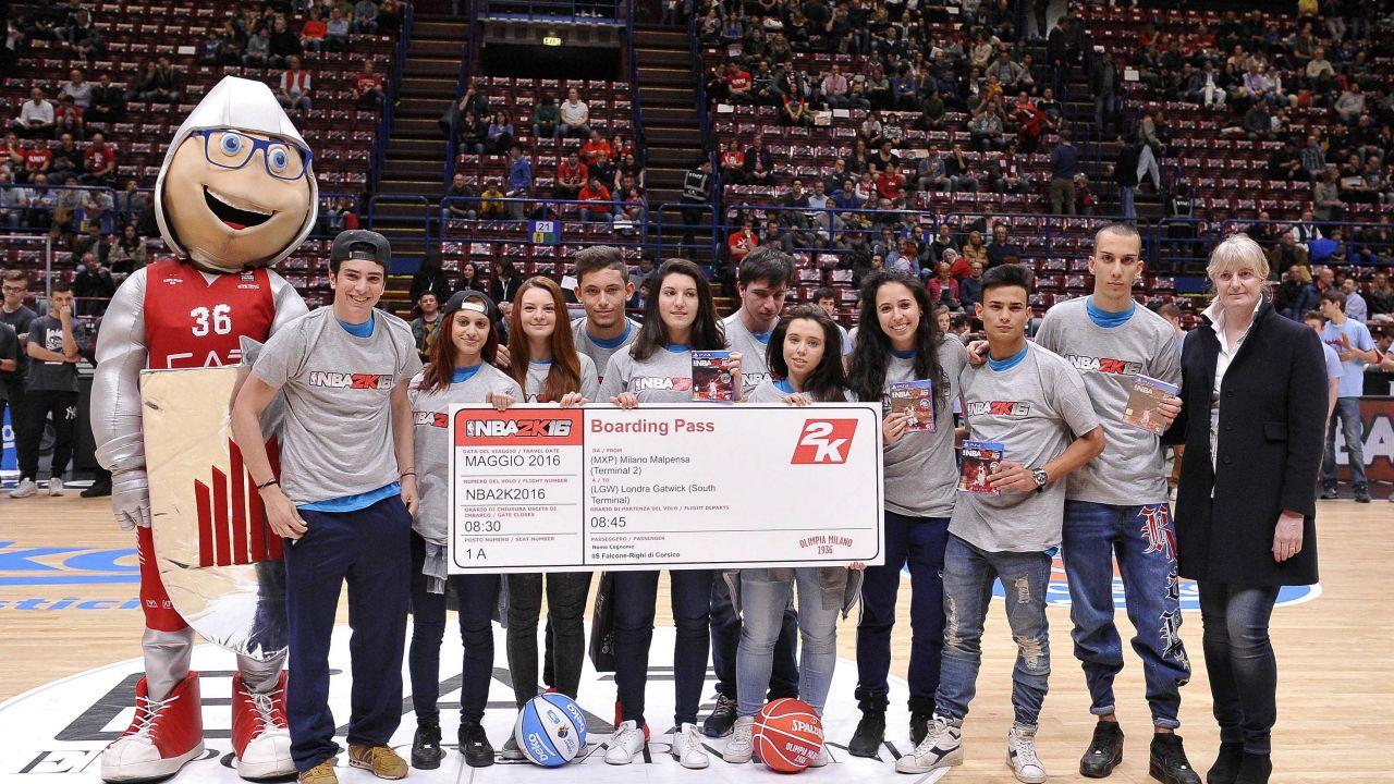 NBA 2K16 e Olimpia Milano portano il basket a scuola