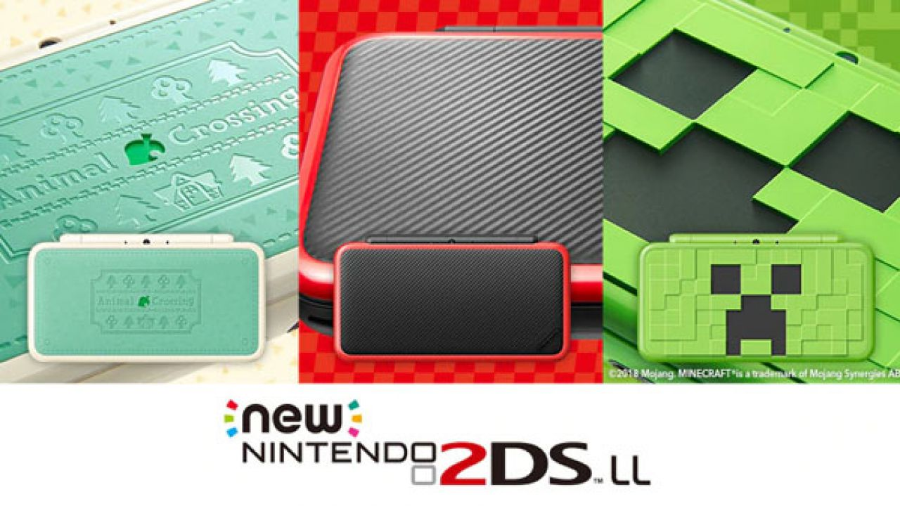 New Nintendo 2DS XL: nuovi modelli dedicati a Minecraft, Mario Kart 7 e Animal Crossing