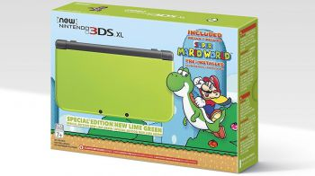 New Nintendo 3DS XL: arriva la colorazione 'lime green' con Super Mario World