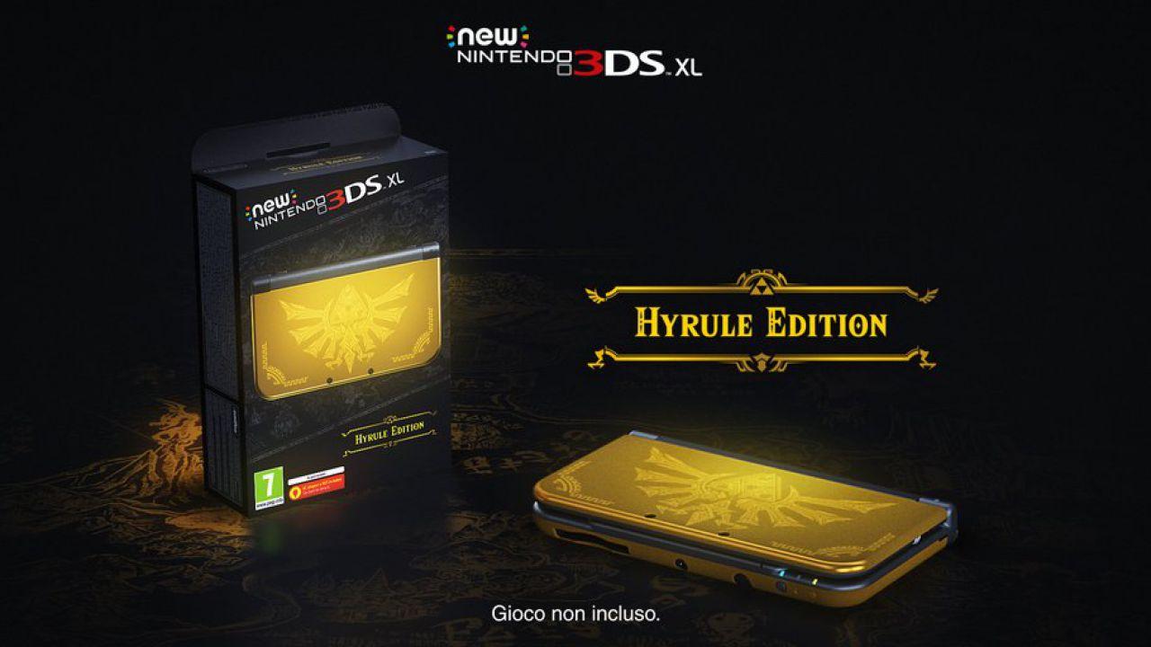 New Nintendo 3DS XL Hyrule Edition debutterà in Europa il 24 marzo