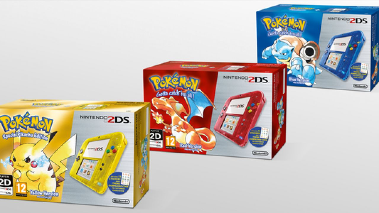 Nintendo 2DS festeggia il ventesimo anniversario di Pokemon con tre bundle speciali