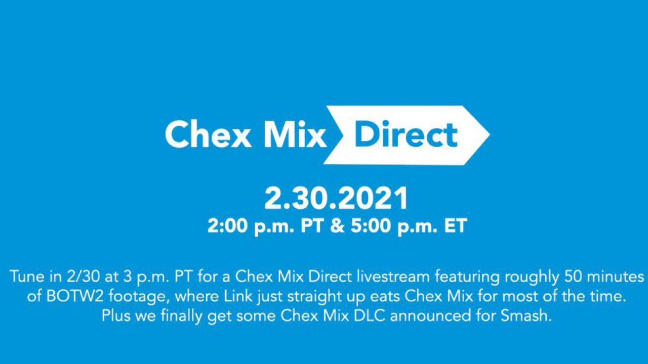 Nintendo Direct dopo 529 giorni: anche Chex Mix festeggia con una parodia!