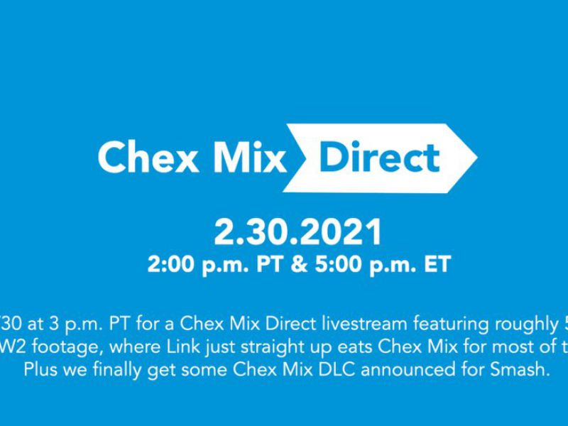 Nintendo Direct after 529 days: Chex Mix also celebrates with a parody!