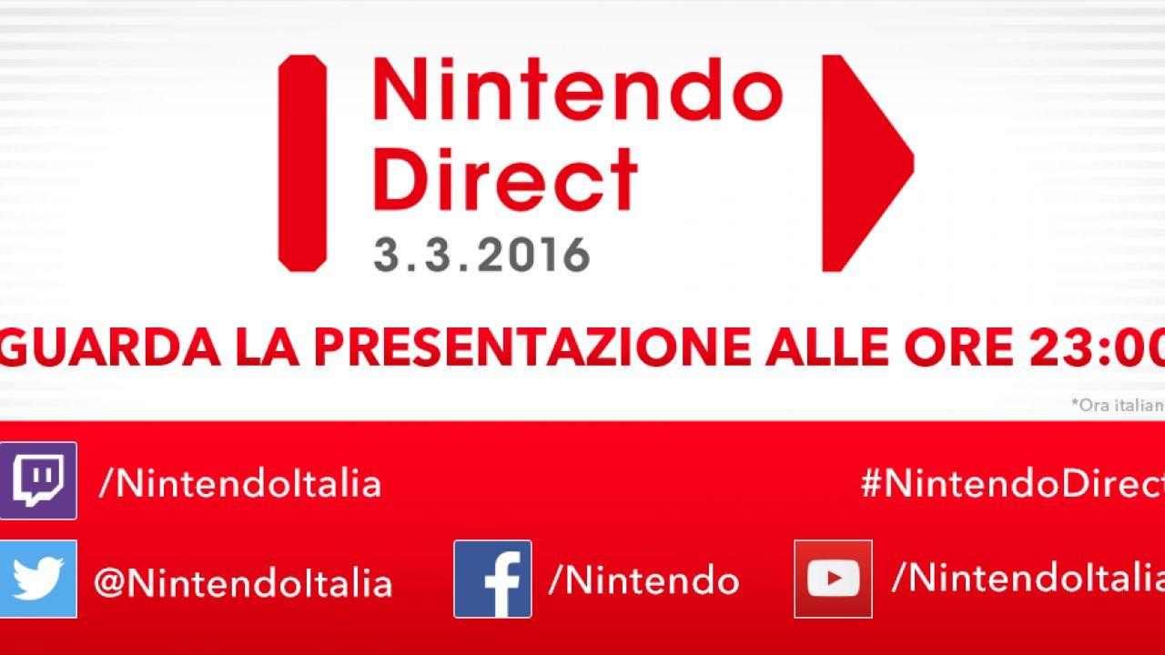 Nintendo Direct in onda alle 23:00