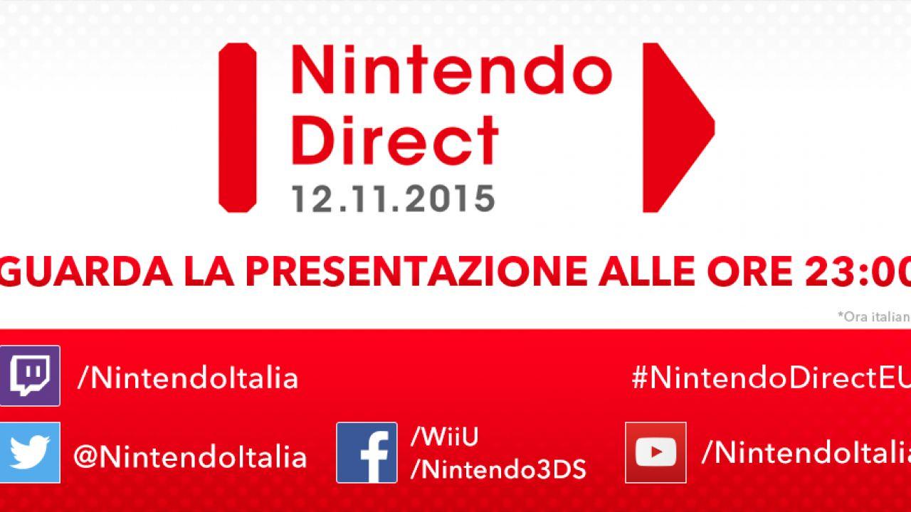 Nintendo Direct: nuovo evento in programma il 12 novembre