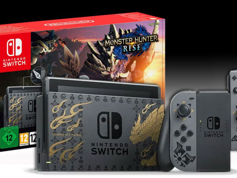 Nintendo Switch Monster Hunter Rise Edition and pre-order controllers from GameStopZing