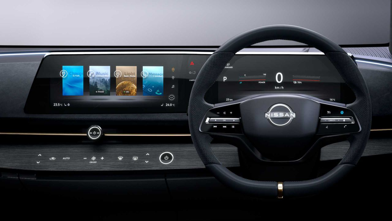 Nissan: 'ecco perché l'Aiya non ha un enorme tablet in stile Tesla'
