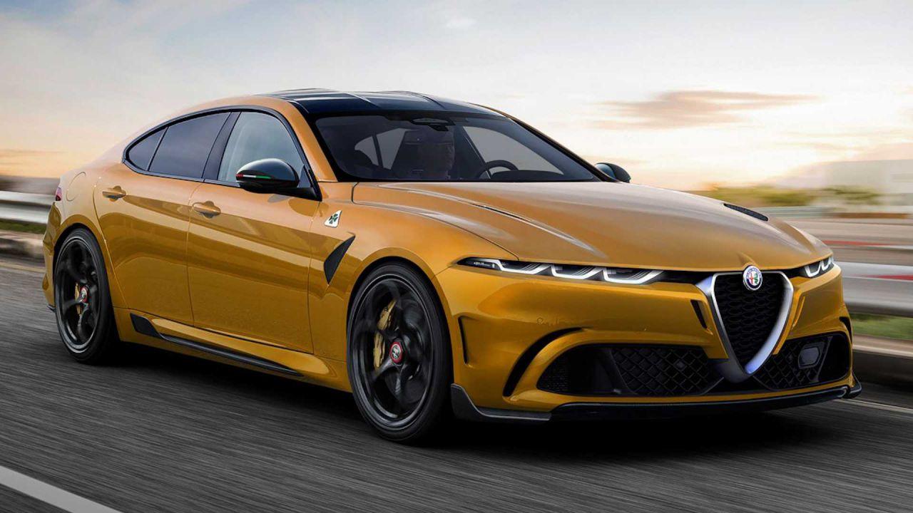 Nuova Alfa Romeo rappresentata in un eccellente rendering: un agguato a BMW Serie 5