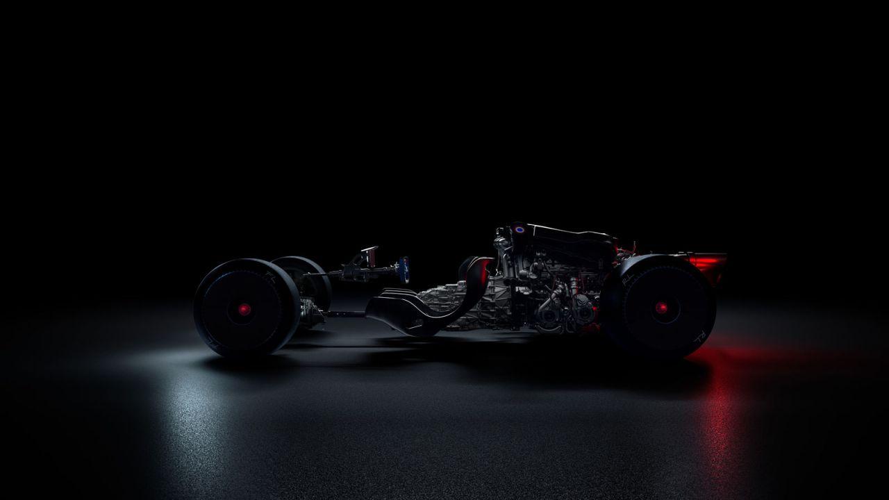 Nuova hypercar Bugatti: lo scheletro evidenzia un motore gigantesco
