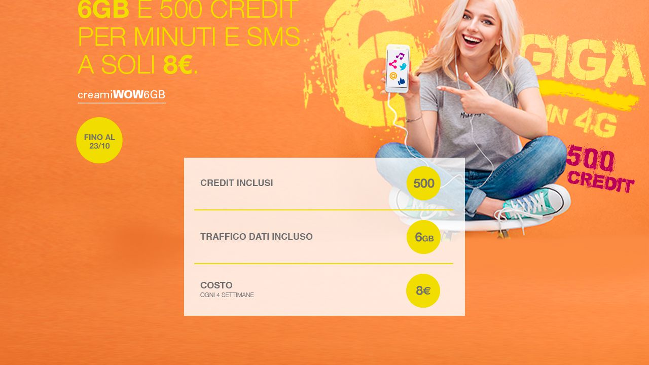 Nuova offerta di postemobile 6gb e 500 crediti a 8 euro - Bolletta telefonica ogni 4 settimane ...