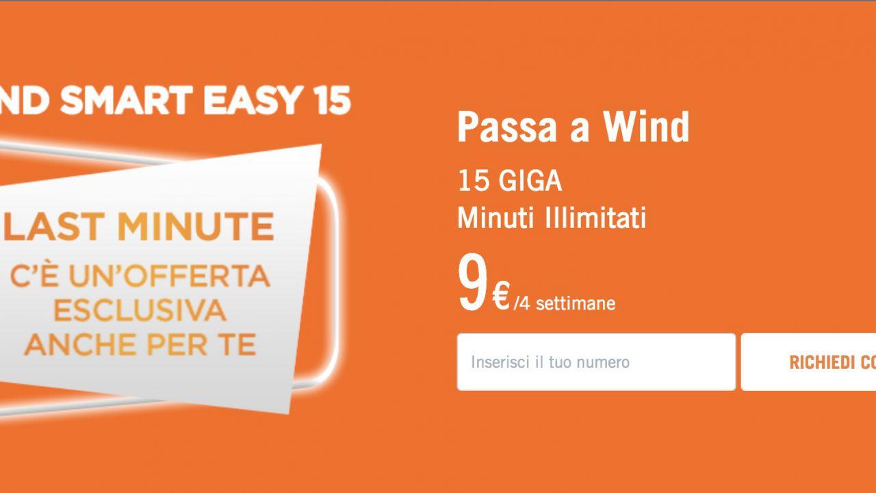 Nuova offerta winback di Wind: 15 giga e minuti illimitati a 9 Euro
