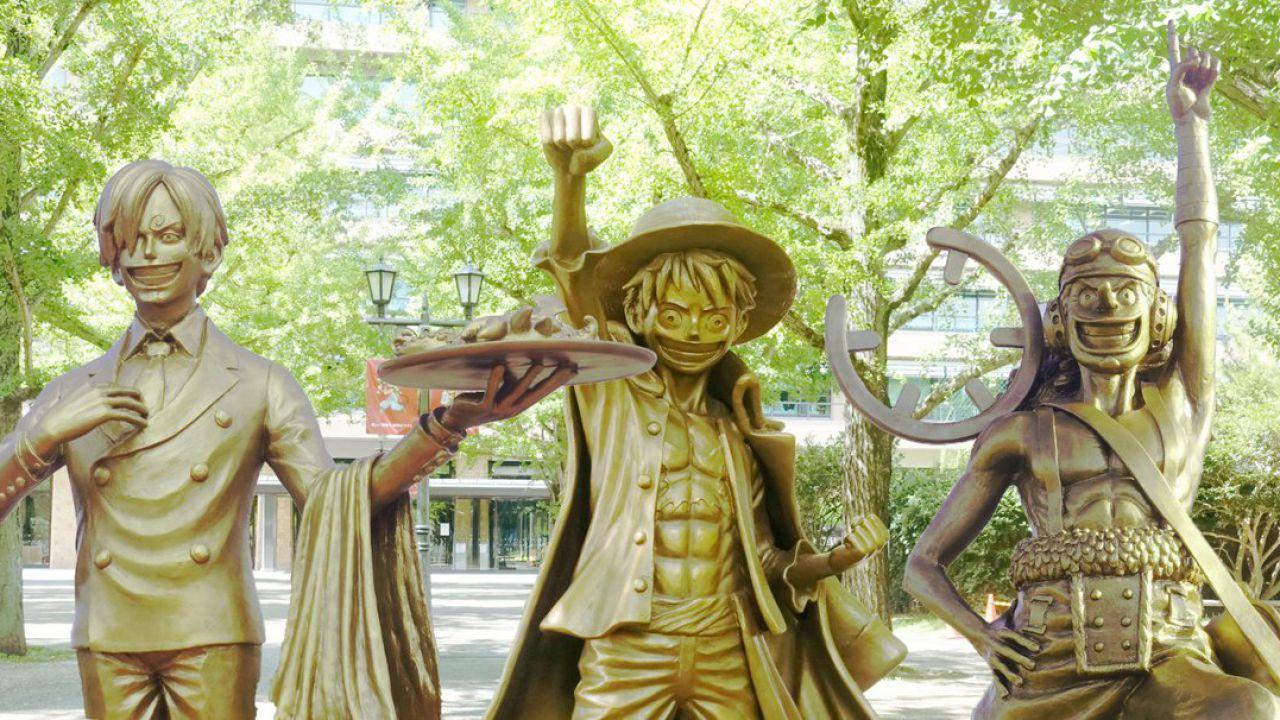ONE PIECE: alcune statue aiutano la ripresa di un paese dopo un terremoto