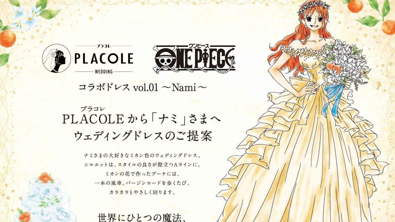 ONE PIECE: arriva una splendida collezione di abiti da sposa, il primo è ispirato a Nami