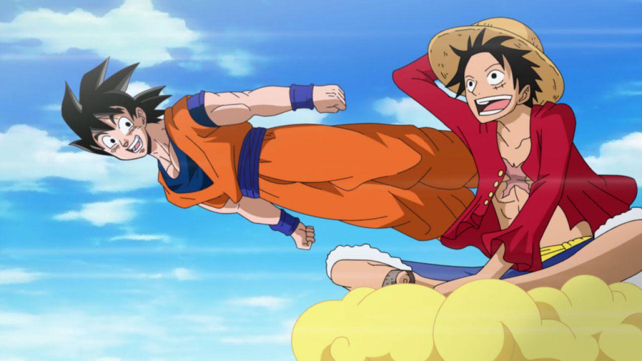 ONE PIECE Vs Dragon Ball: Luffy affronta Goku in un bellissimo artwork in prima persona