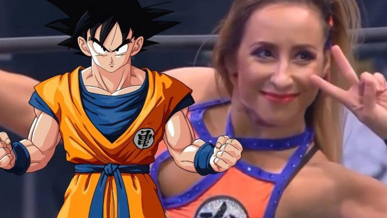 Outfit di Goku e Kamehameha per la wrestler portoghese 'Shanna', fan in visibilio sul web