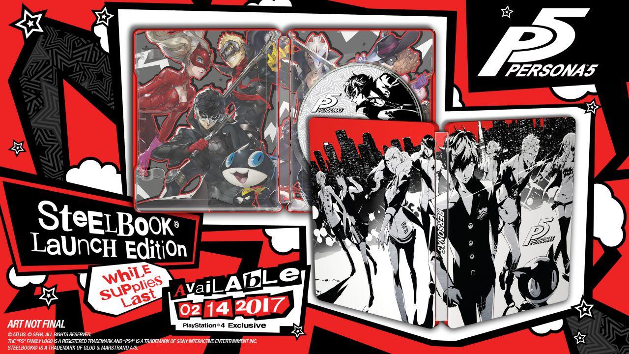 Persona 5: rivelata la Steelbook Launch Edition per il mercato europeo