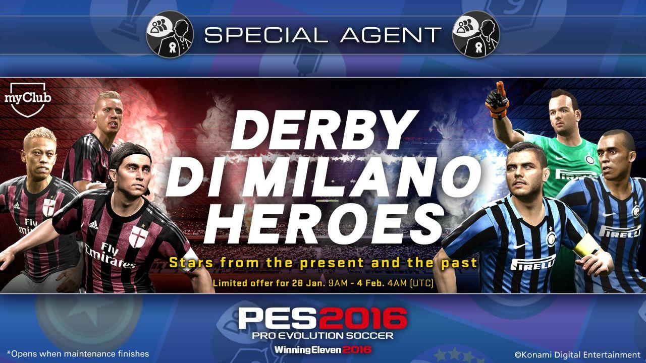 PES 2016: nuova promozione myClub dedicata al Derby di Milano