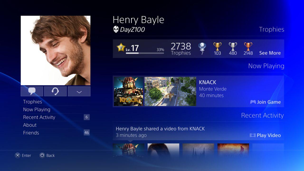 PlayStation 4: notifiche amico e supporto DLNA in arrivo a gennaio?