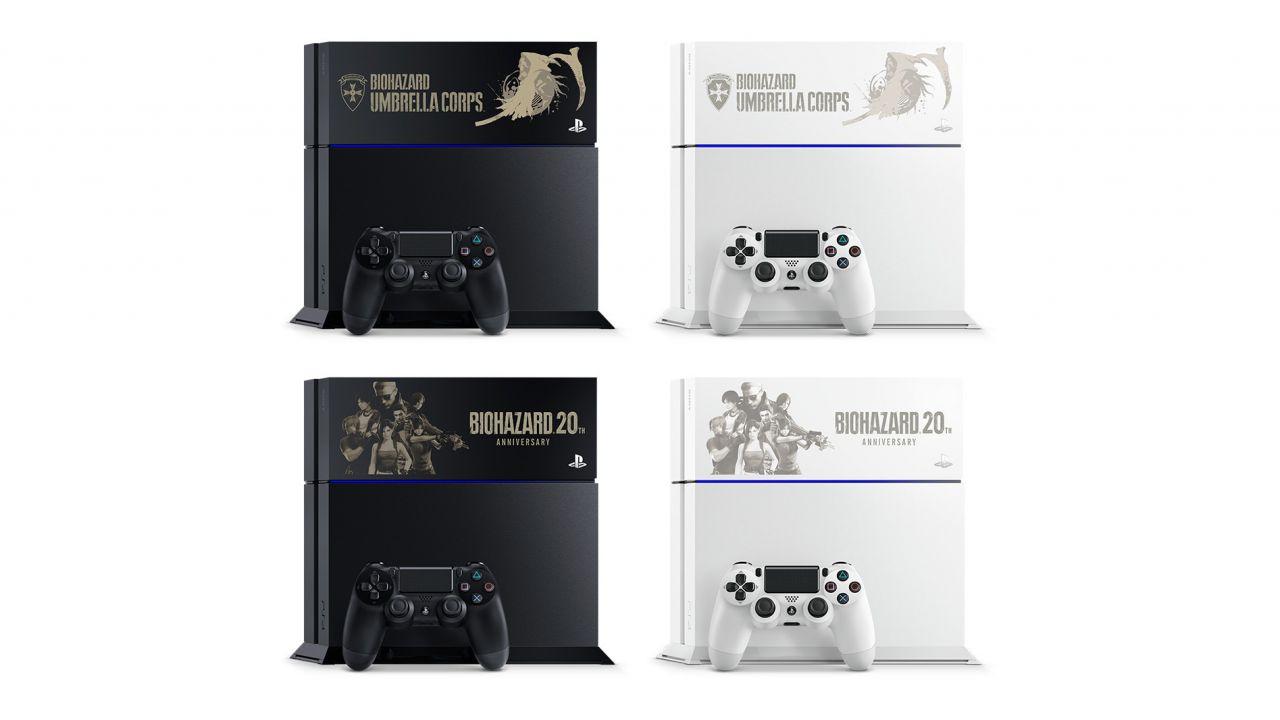PlayStation 4 personalizzata per Resident Evil Umbrella Corps