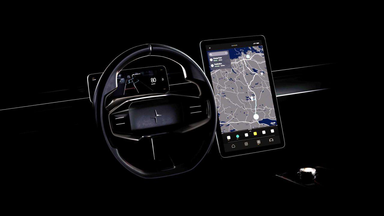 Polestar sfida Tesla con il nuovo sistema di infotainment basato su Android: le foto
