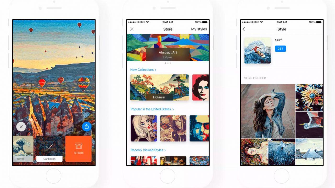 Prisma permetterà agli utenti di creare filtri personalizzati