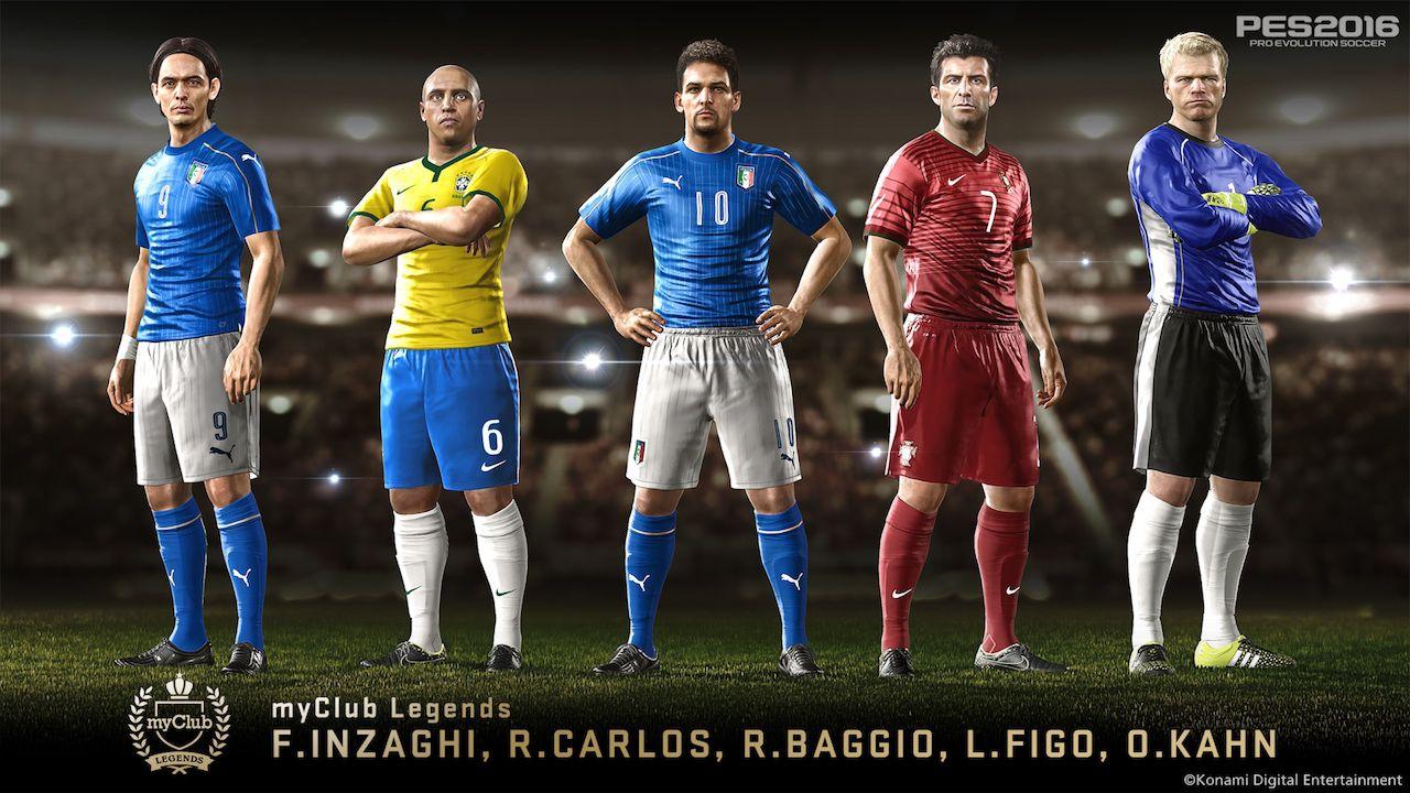 Pro Evolution Soccer 2016: arrivano i miti del calcio in MyClub