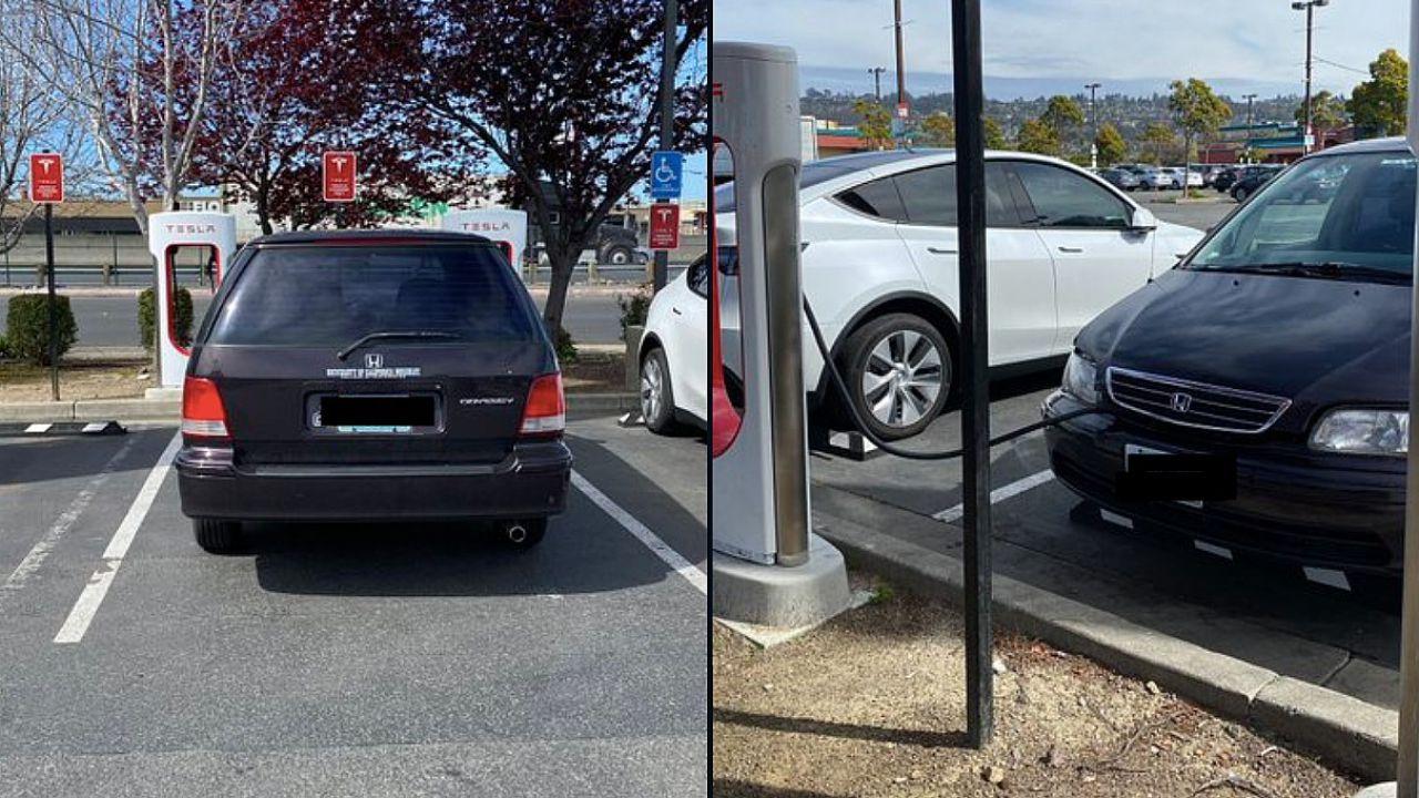 Proprietari di auto tradizionali si divertono a occupare le colonnine per EV: ecco i casi