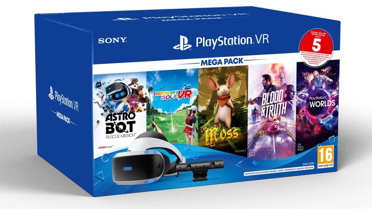 PS4 e PS5 in Realtà Virtuale: Sony svela il Mega Pack PS VR con visore e 5 giochi